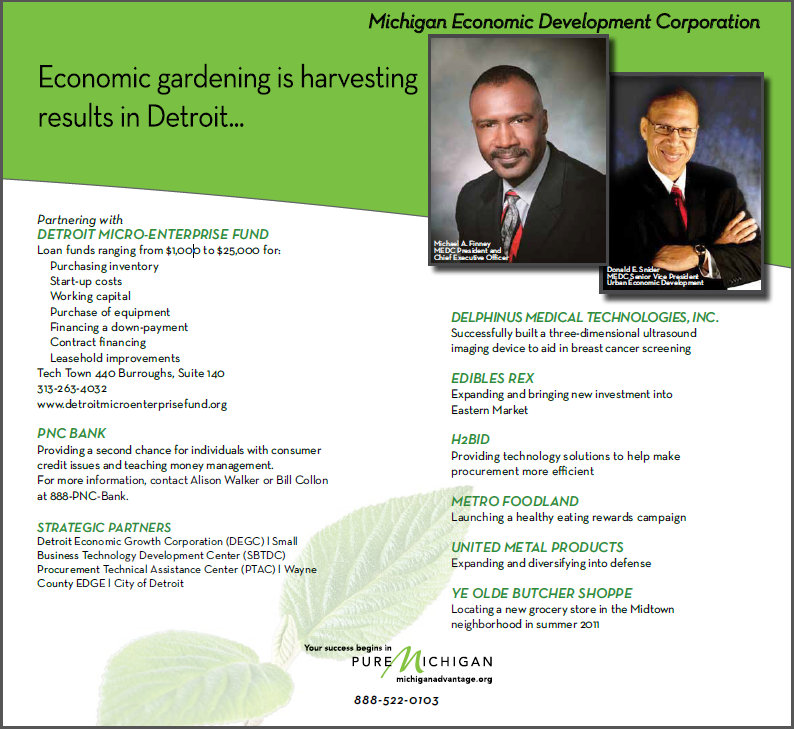 Economic Gardening Donald Snider Detroit MI